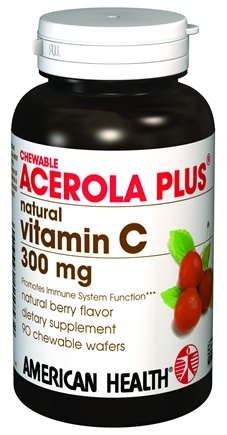 DROPPED: American Health - Acerola Plus Natural Vitamin C 300 mg. - 90 Wafers