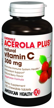 DROPPED: American Health - Acerola Plus Natural Vitamin C 300 mg. - 180 CHEWABLE TABLETS