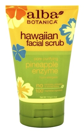 Alba Botanica - Alba Hawaiian Facial Scrub Pineapple Enzyme - 4 oz.