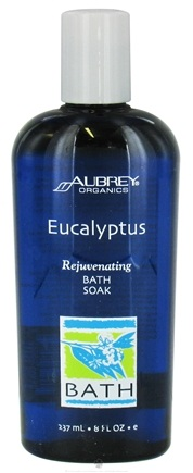 DROPPED: Aubrey Organics - Eucalyptus Rejuvenating Bath Soak - 8 oz. CLEARANCE PRICED