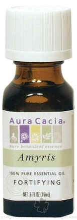 DROPPED: Aura Cacia - Essential Oil Fortifying Amyris - 0.5 oz. CLEARANCE PRICED