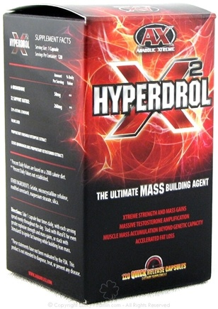 DROPPED: Anabolic Xtreme - Hyperdrol X2 - 120 Capsules Hyperdrol