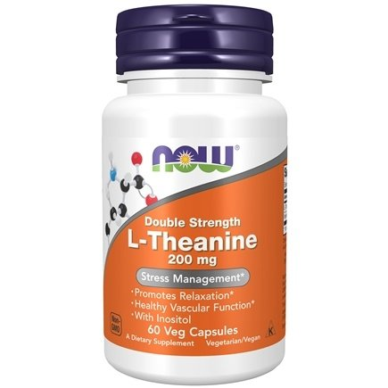 NOW Foods - L-Theanine 200 mg. - 60 Vegetarian Capsules