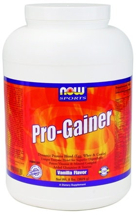 DROPPED: NOW Foods - Pro-Gainer Protein Powder Vanilla - 8 lbs.