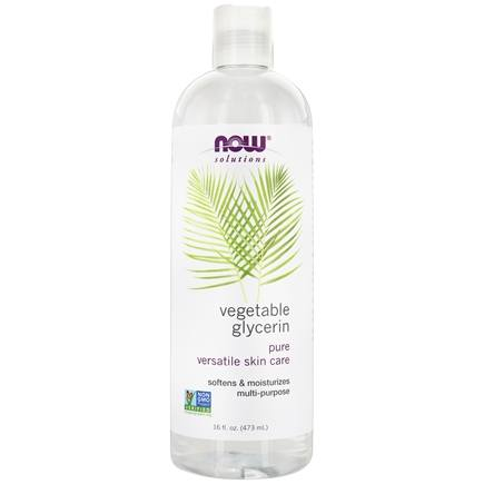 NOW Foods - Vegetable Glycerine 100% Pure Versatile Skin Care - 16 oz.