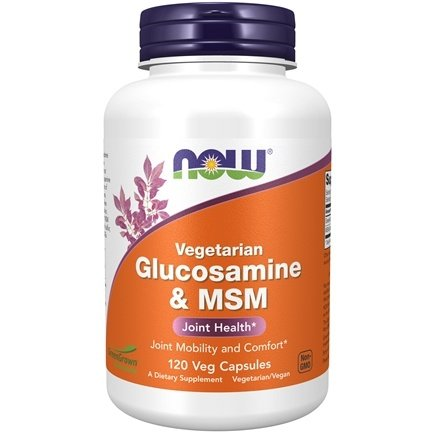 NOW Foods - Vegetarian Glucosamine & MSM 1000 mg. - 120 Capsules