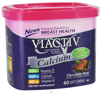 DROPPED: McNeil Nutritionals - Viactiv Calcium Soft Chews Chocolate Mint - 60 Chew(s)