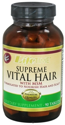 DROPPED: LifeTime Vitamins - Supreme Vital Hair With MSM - 90 Tablets CLEARANCE PRICED