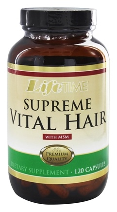 LifeTime Vitamins - Supreme Vital Hair With MSM - 120 Capsules