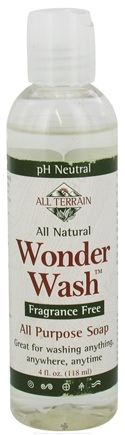 DROPPED: All Terrain - Hiker's Wonder Wash Liquid Soap Fragrance Free - 4 oz. CLEARANCE PRICED