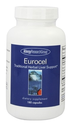 Allergy Research Group - Eurocel Traditional Herbal Liver Support - 180 Capsules