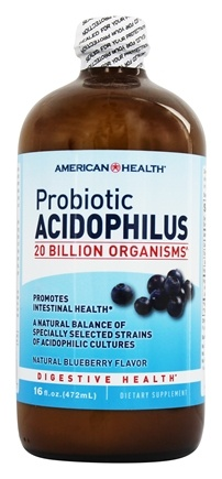 American Health - Probiotic Acidophilus Culture Natural Blueberry Flavor - 16 oz.
