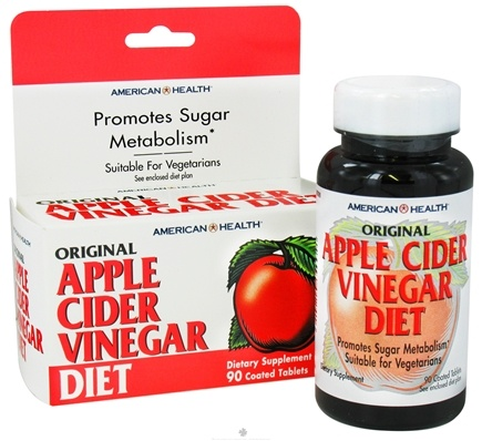DROPPED: American Health - Apple Cider Vinegar Diet - 90 Tablets Contains Apple Pectin CLEARANCE PRICED