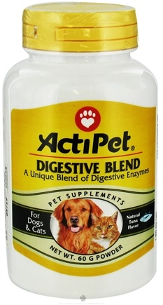 ActiPet - Digestive Blend Powder For Dogs & Cats Tuna Flavor - 60 Grams