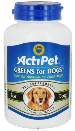 DROPPED: ActiPet - Greens For Dogs - 90 Chewable Tablets CLEARANCE PRICED