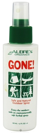 DROPPED: Aubrey Organics - Gone Safe and Natural Outdoor Spray - 4 oz. CLEARANCE PRICED