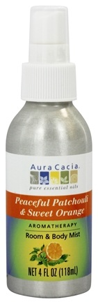 Aura Cacia - Aromatherapy Mist For Room and Body Patchouli & Sweet Orange - 4 oz.