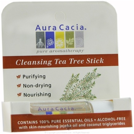 DROPPED: Aura Cacia - Aromatherapy Stick Cleansing Tea Tree - 0.29 oz. CLEARANCE PRICED
