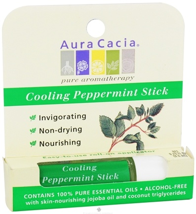 DROPPED: Aura Cacia - Aromatherapy Stick Cooling Peppermint - 0.29 oz. CLEARANCE PRICED