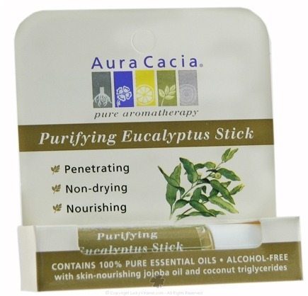 DROPPED: Aura Cacia - Aromatherapy Stick Purify Eucalyptus - 0.29 oz. CLEARANCE PRICED