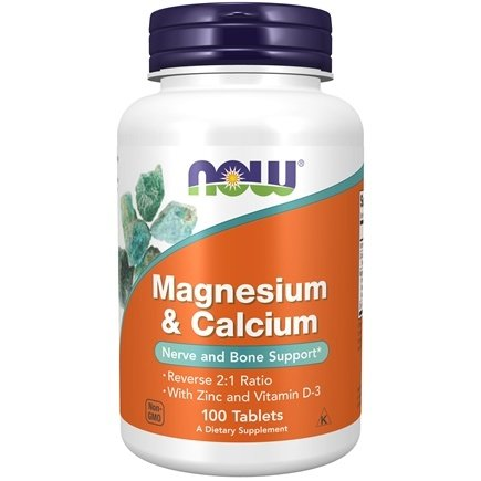 NOW Foods - Magnesium & Calcium 1:2 Ratio - 100 Tablets