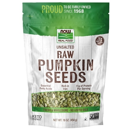 NOW Foods - Raw Pumpkin Seeds - 1 lb.