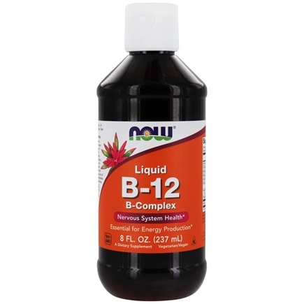 NOW Foods - Vitamin B-12 Liquid Complex - 8 oz.