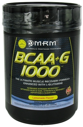 DROPPED: MRM - BCAA + G Ultimate Muscle Recovery Formula Lemonade - 1000 Grams CLEARANCED PRICED
