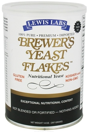 DROPPED: Lewis Labs - Brewer's Yeast Flakes Nutritional Yeast - 14 oz.