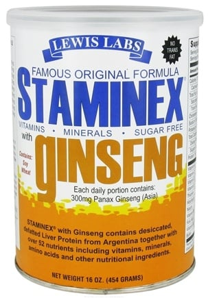 DROPPED: Lewis Labs - Staminex with Ginseng - 16 oz.