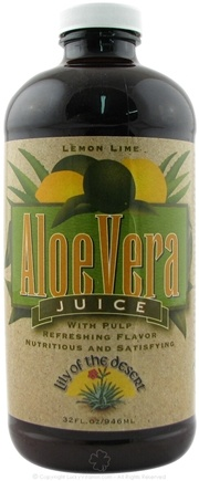 DROPPED: Lily Of The Desert - Aloe Juice Lemon Lime - 32 oz. CLEARANCE PRICED