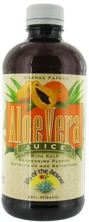 DROPPED: Lily Of The Desert - Aloe Juice Orange Papaya - 32 oz. CLEARANCE PRICED