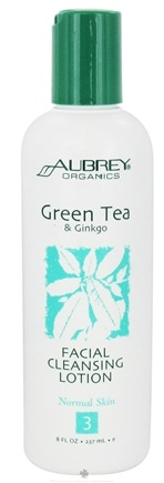 DROPPED: Aubrey Organics - Green Tea & Ginkgo Facial Cleansing Lotion - 8 oz.