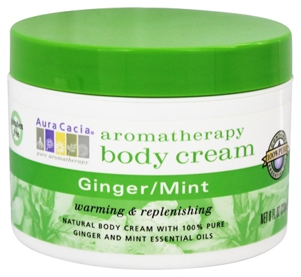 Aura Cacia - Aromatherapy Body Cream Ginger & Mint - 8 oz.