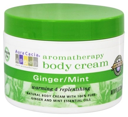 DROPPED: Aura Cacia - Aromatherapy Body Cream Ginger & Mint - 8 oz.