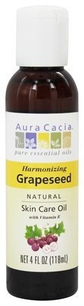 DROPPED: Aura Cacia - Natural Skin Care Oil Grapeseed - 4 oz.