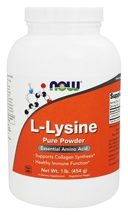 NOW Foods - Lysine Powder - 1 lb.