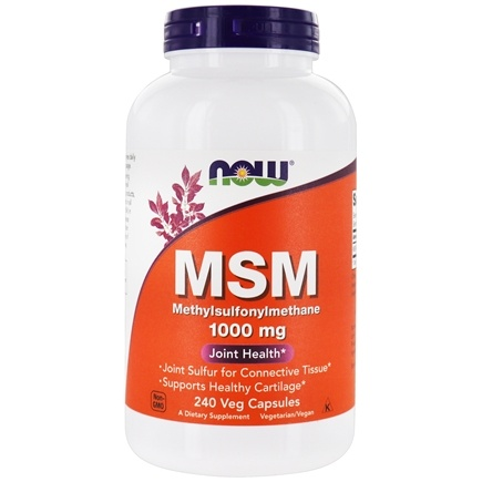 NOW Foods - MSM 1000 mg. - 240 Capsules