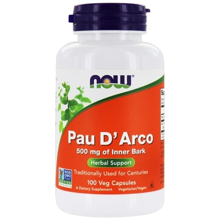 DROPPED: NOW Foods - Pau D'Arco Inner Bark 500 mg. - 100 Capsules