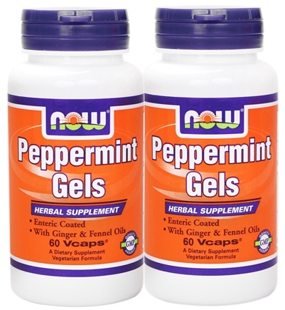 DROPPED: NOW Foods - Peppermint Gels (90+90) Twin Pack - 180 Softgels