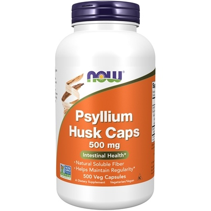 NOW Foods - Psyllium Husk 500 mg. - 500 Capsules