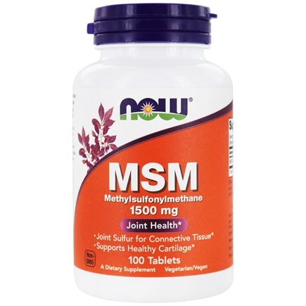 DROPPED: NOW Foods - MSM 1500 mg. - 100 Tablets CLEARANCE PRICED