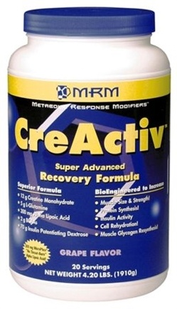 DROPPED: MRM - Creactiv Post Recovery Formula Orange Flavor - 2.1 lbs.