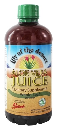Lily Of The Desert - Aloe Vera Juice Organic Whole Leaf - 32 oz.