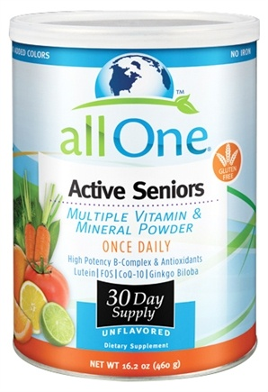 DROPPED: All One - Active Seniors Multiple Vitamin and Mineral Powder - 16.2 oz.