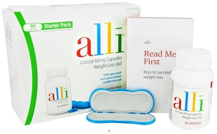 DROPPED: Alli - Orlistat Weight Loss Aid Starter Pack 60 mg. - 90 Capsules CLEARANCE PRICED