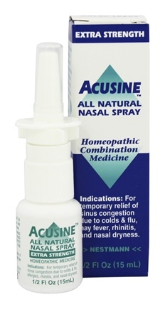 Acusine - Nasal Spray All Natural Extra Strength - 0.5 oz.