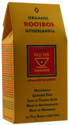 DROPPED: African Red Tea Imports - Red Tea With Sutherlandia - Organic - 20 Tea Bags CLEARANCE PRICED