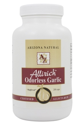 Arizona Natural - Allirich Odorless Garlic 500 mg. - 250 Capsules