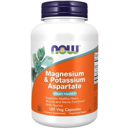 NOW Foods - Magnesium/Potassium Aspartate With Taurine - 120 Capsules